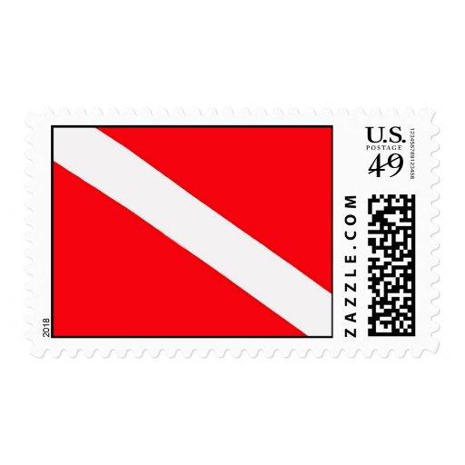 Dive Flag Stamp