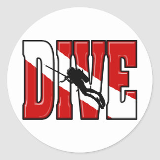 Dive Flag Stickers