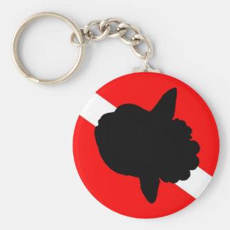 Dive Flag Sunfish Basic Round Button Keychain