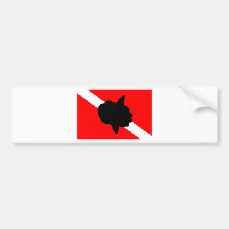 Dive Flag Sunfish Bumper Sticker