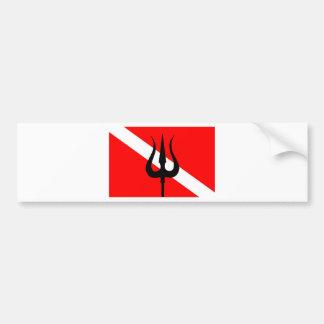 Dive Flag Trident Bumper Sticker