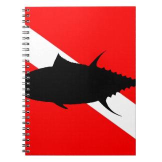 Dive Flag Tuna Spiral Notebook