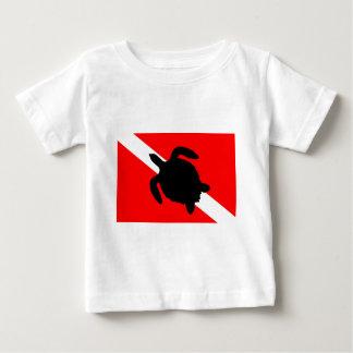 Dive Flag Turtle III Baby T-Shirt