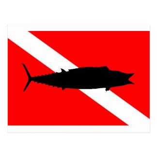 Dive Flag Wahoo Postcard