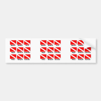 Dive Flags of the World Bumper Sticker