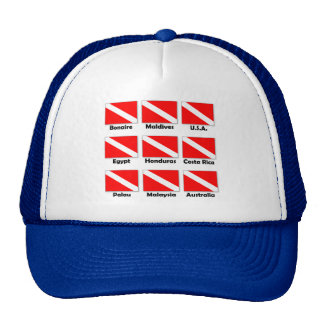 Dive Flags of the World Trucker Hat