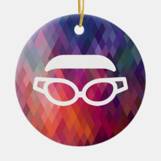Dive Googles Graphic Double-Sided Ceramic Round Christmas Ornament