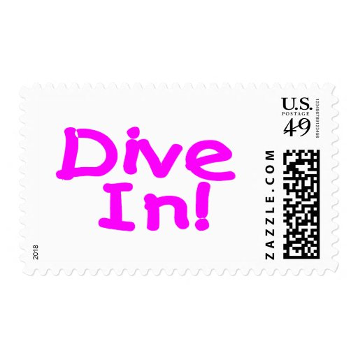 Dive In Postage Stamp