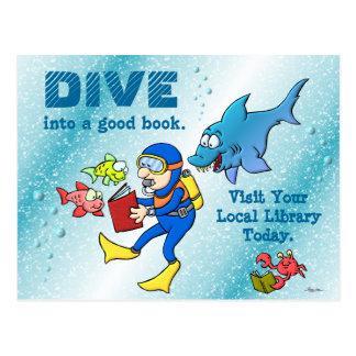 Dive Into A Good Book Postcards