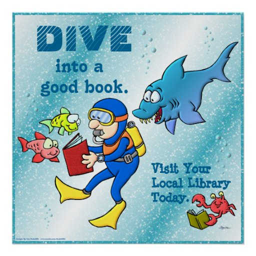 Dive Into A Good Book Poster