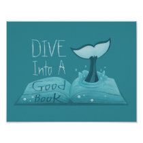 Dive into a Good Book Poster
