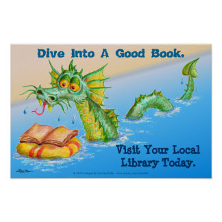 Dive Into A Good Book. Poster