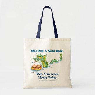 Dive Into A Good Book. Tote Bag