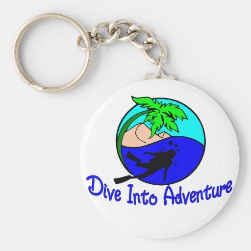 Dive Into Adventure Keychain