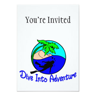 Dive Into Adventure Ocean Diver Card