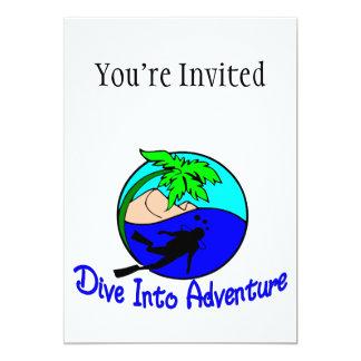 Dive Into Adventure Ocean Diver Card