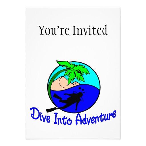 Dive Into Adventure Ocean Diver Invitation