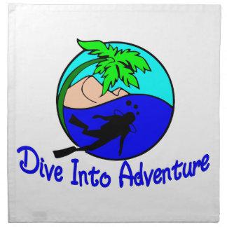 Dive Into Adventure Ocean Diver Napkin