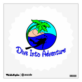 Dive Into Adventure Ocean Diver Room Sticker