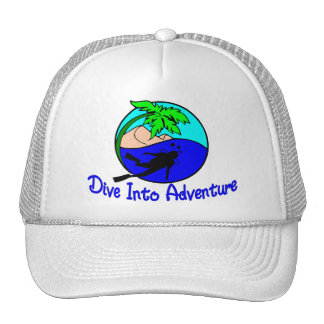 Dive Into Adventure Ocean Diver Trucker Hat