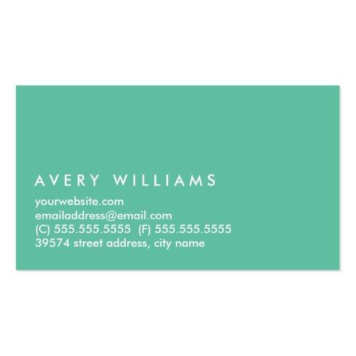 Dive Into Color Business Card (back side)
