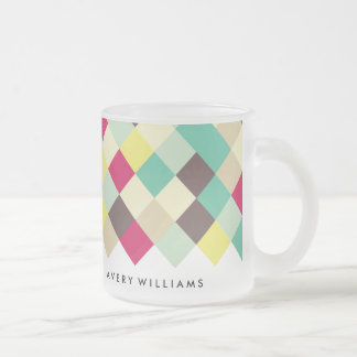 Dive Into Color Frosted Glass Coffee Mug