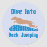 Dive Into Dock Jumping Sticker