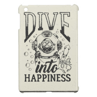 Dive into happiness motivational scuba diving iPad mini cases