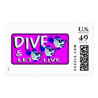 Dive & let live postage