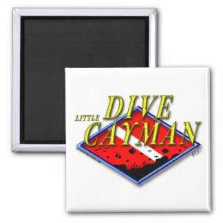 Dive Little Cayman 2 Inch Square Magnet