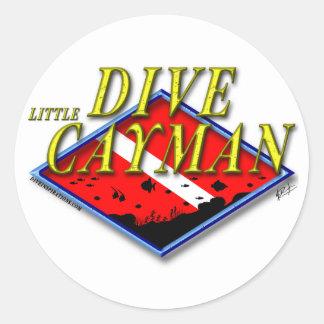 Dive Little Cayman Classic Round Sticker
