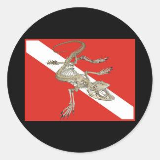 Dive Lizard Classic Round Sticker