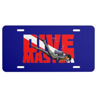 Dive Master License Plate