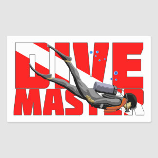 Dive Master Rectangular Sticker