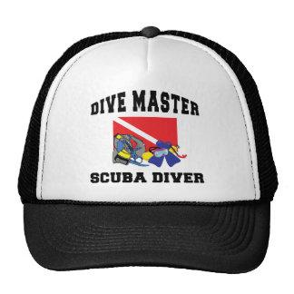 Dive Master SCUBA Diver Trucker Hats