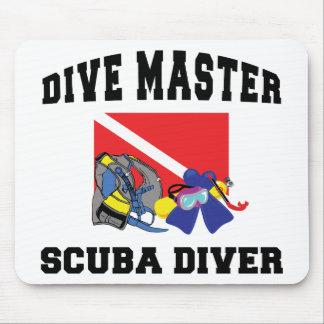 Dive Master SCUBA Diver Mouse Pad