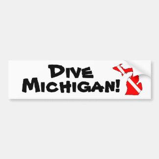 Dive Michigan! Bumper Sticker Car Bumper Sticker