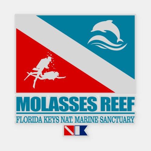 Dive Molasses Reef sq Sticker