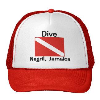 Dive Negril Jamaica Mesh Hat