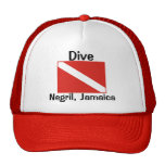 Dive, Negril, Jamaica Mesh Hat