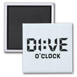 Dive O'Clock 2 Inch Square Magnet