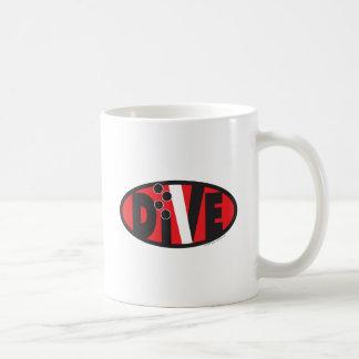 Dive Oval Coffee Mugs