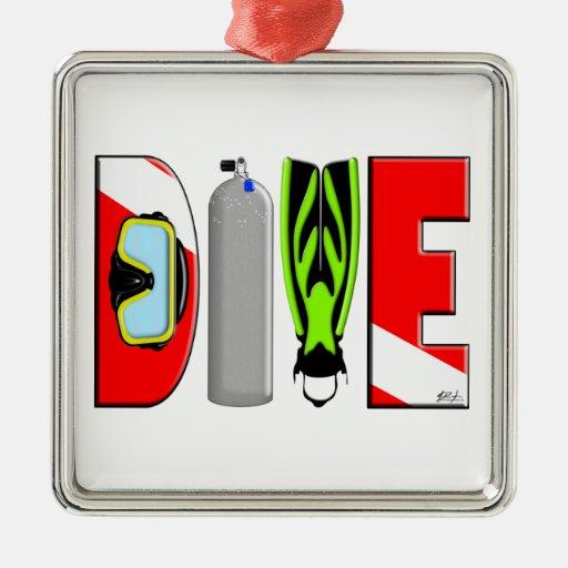 DIVE Premium Square Ornament