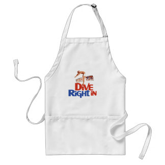 Dive right in adult apron