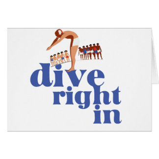 Dive Right In Greeting Cards