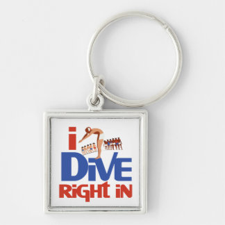 Dive right in keychain