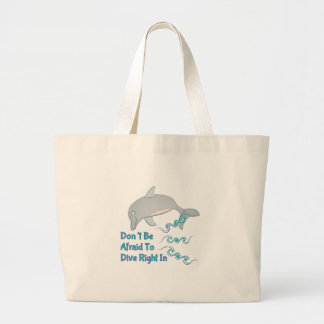 Dive Right In Large Tote Bag