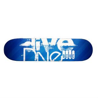 Dive; Royal Blue Stripes Skateboard