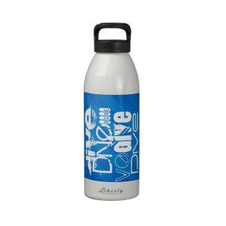 Dive; Royal Blue Stripes Reusable Water Bottles
