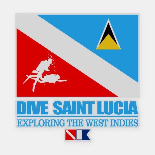 Dive Saint Lucia sq Sticker